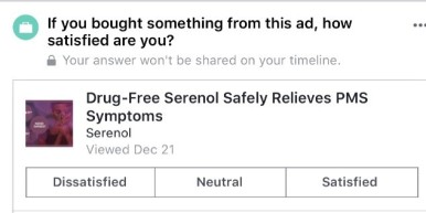 Serenol ad screen shot