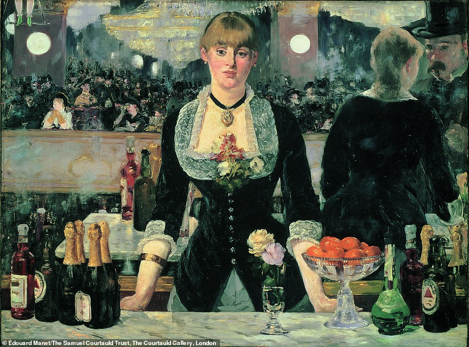 Édouard Manet, A Bar at The Folies-Bergère, 1882: Kelly said: 'On either side of the barmaid in Édouard Manet's famous depiction of a raucous cabaret in Paris, bottles of a British beer manufactured by the Bass Brewery call attention to themselves by the distinctive, red triangle printed on their label. The very first officially protected trademark in the United Kingdom, the Bass logo may seem a strange product placement in a proto-Impressionist masterpiece; yet it is key to unlocking the work's meaning and poignant power'